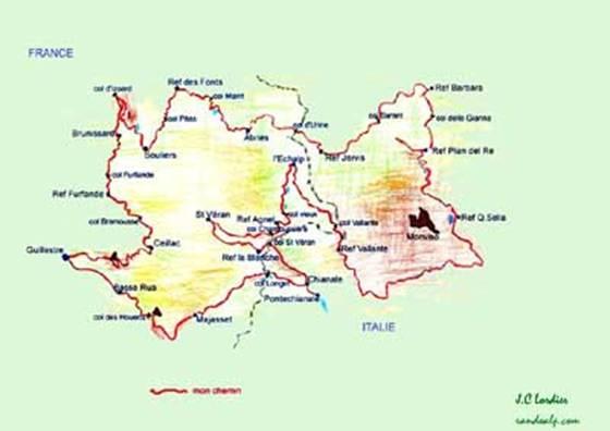 Grand tour du Queyras, du Viso, de la Font Sancte, et val d'Escreins.